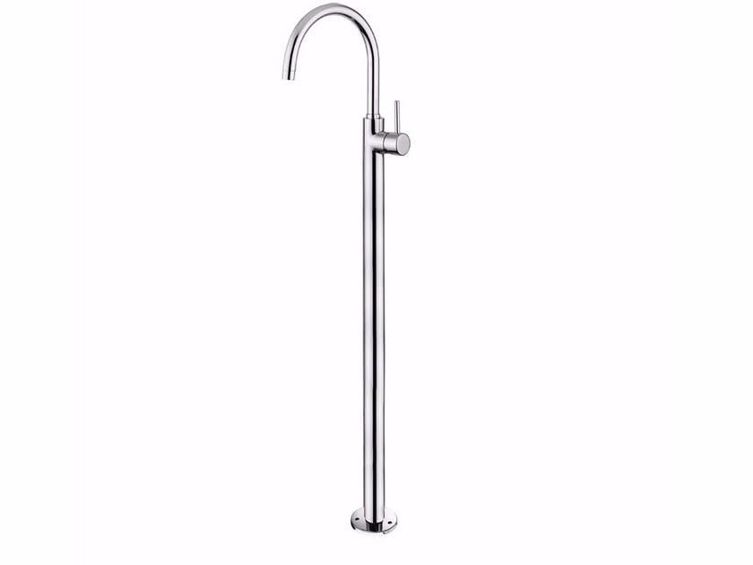 Floor standing single handle washbasin mixer FUTURO - F6590 by Rubinetteria Giulini