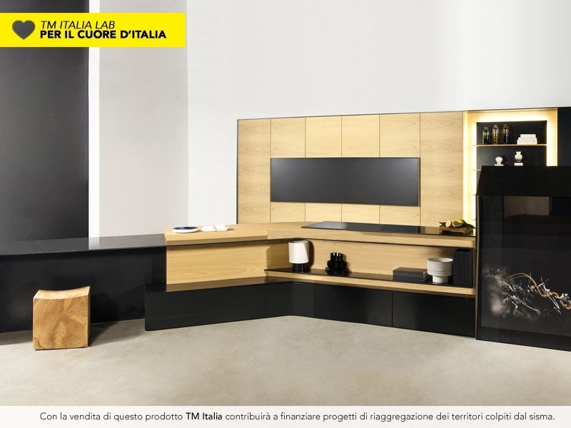 Kitchen with peninsula FX CARBON by TM Italia Cucine