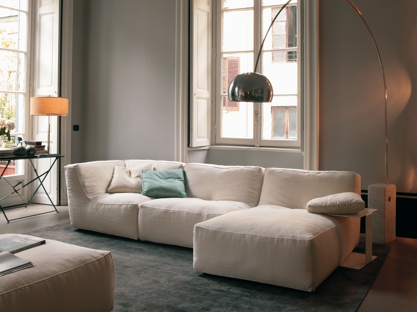 Sectional fabric sofa with removable cover NOE | Fabric sofa by Verzelloni