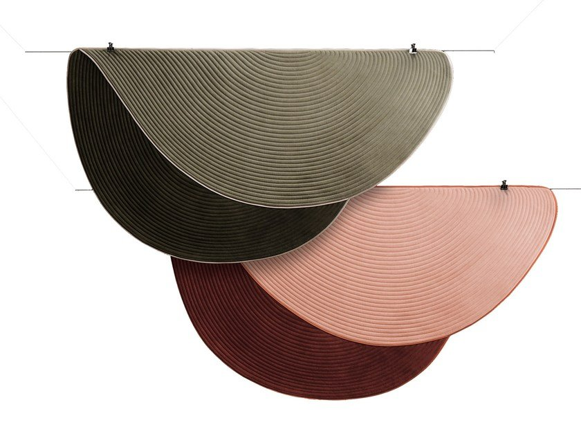 Solid-color round rug FAREWELL by Dante