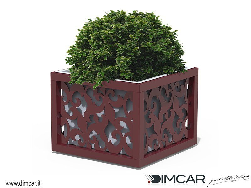 Low metal Flower pot Fioriera Giglio by DIMCAR