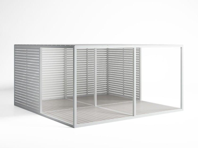 Adjustable aluminium solar shading Fixed Blades Sidewalls by GANDIA BLASCO