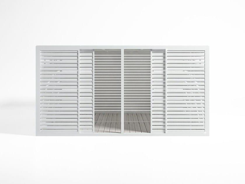 Tetto Alluminio Fisso e Pavimento serramenti con porta