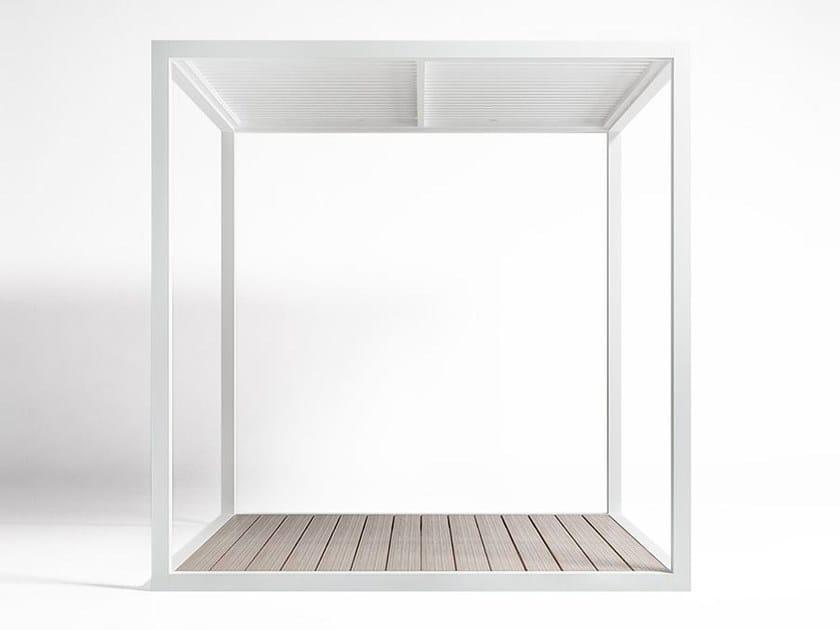 Tetto Alluminio Fisso e Pavimento pergola 1