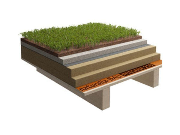Ventilated roof system Flat roof by Naturalia BAU