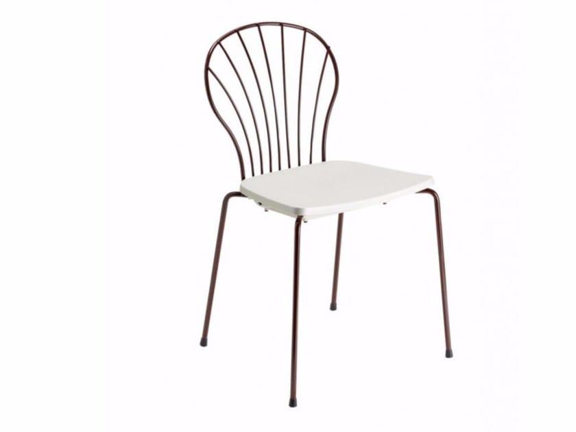 Polypropylene chair Flint 535-B by Metalmobil