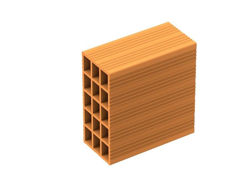 Clay block for internal partition Forato leggero 3 camere by Fornaci Laterizi Danesi