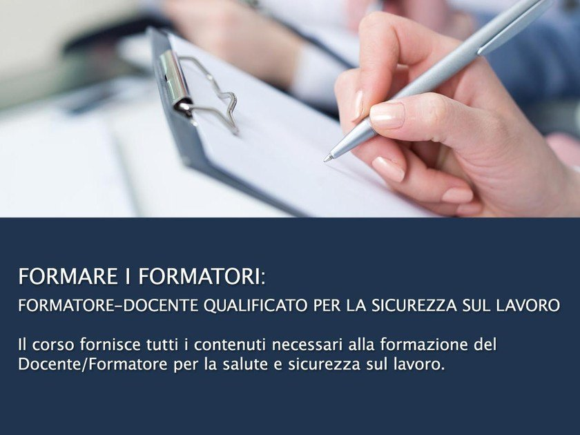 Health and safety video training course Formare i Formatori by UNIPRO