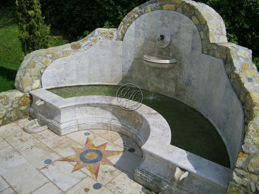 Natural stone Fountain Fountain 2 by GH LAZZERINI