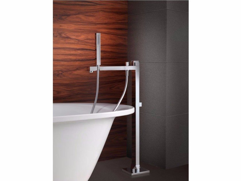 Floor standing 1 hole brass bathtub mixer with hand shower Freestanding bathtub faucet by tender rain