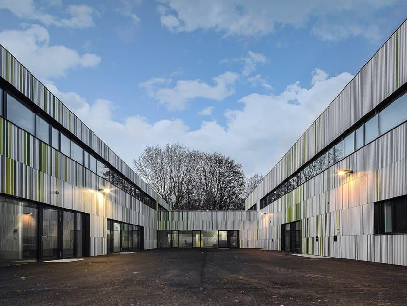 Aluminium Ventilated facade Fshape by Kalikos