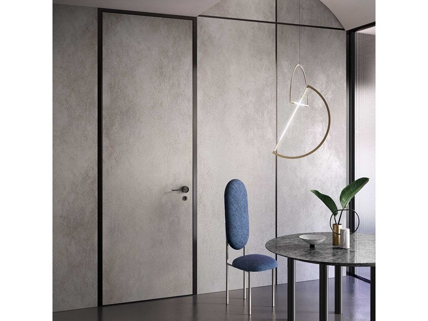 Hinged door with concealed hinges G-LIKE BLADE by GIDEA