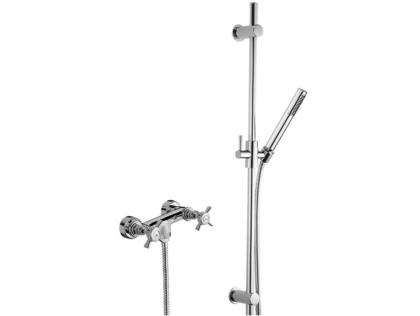 Shower set with hand shower G5 F7907WS by Rubinetteria Giulini