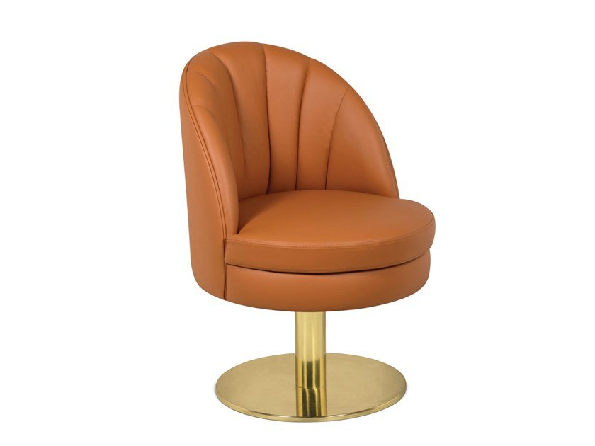 Swivel leather chair GABLE | Swivel chair by Delightfull
