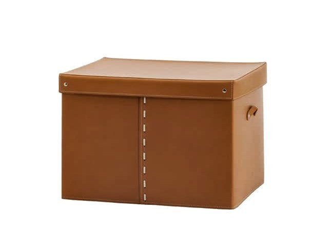 Bonded leather storage box GABRY by LIMAC design FIRESTYLE