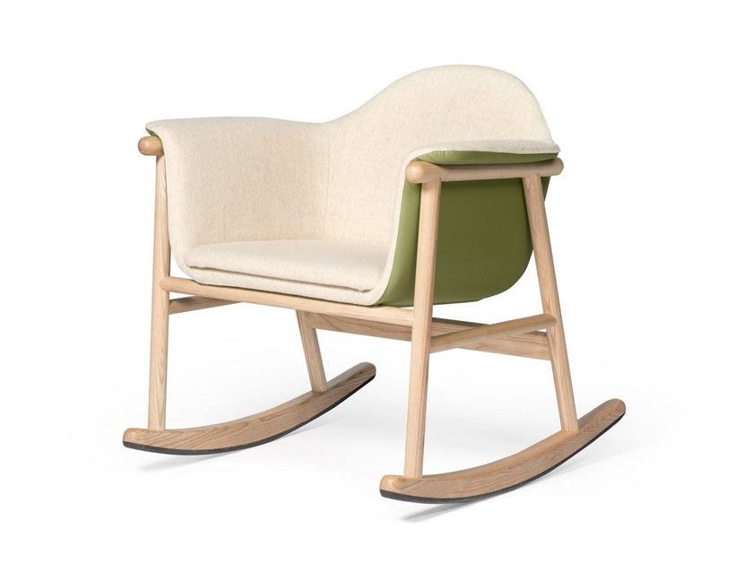 Rocking easy chair with armrests GAGO by DAM
