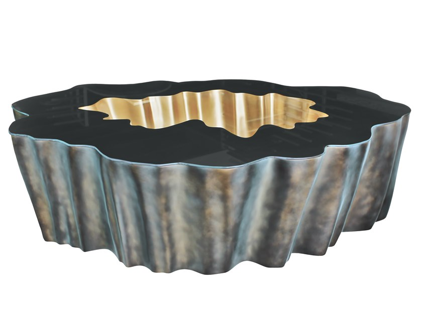 Fiberglass coffee table GAIA K1080 by KARPA