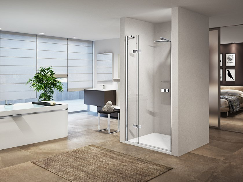 Niche shower cabin with hinged door GALA 1B by NOVELLINI