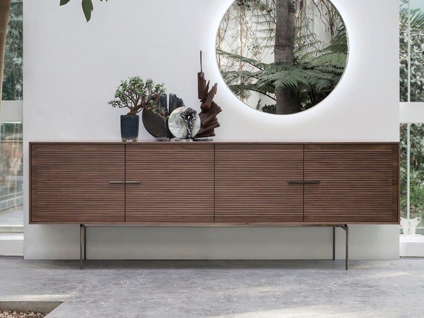 Walnut sideboard with doors GALATEA by ALIVAR