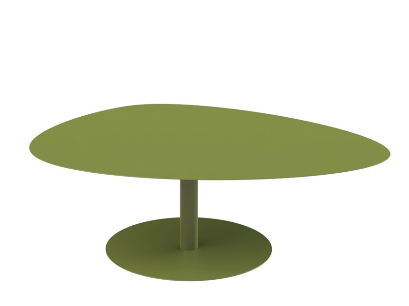 Powder coated steel coffee table GALET XL by Matière Grise