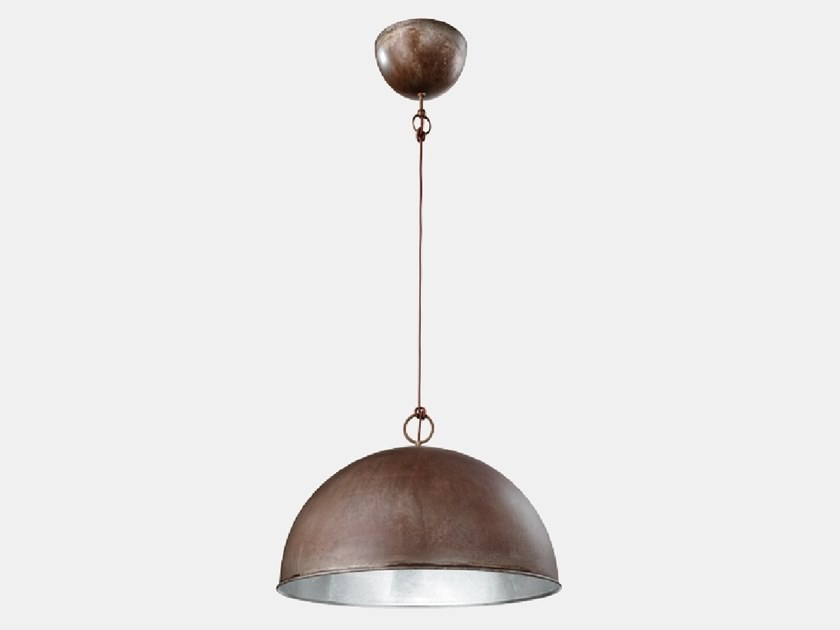 Iron pendant lamp GALILEO 251.10.F95 by Il Fanale