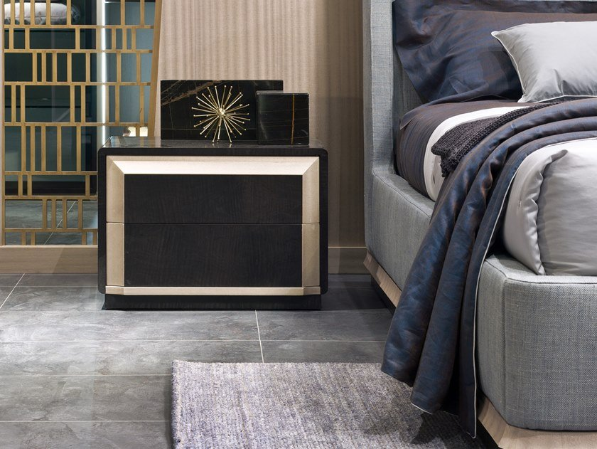 Rectangular bedside table with drawers GALILEO | Bedside table by Carpanelli