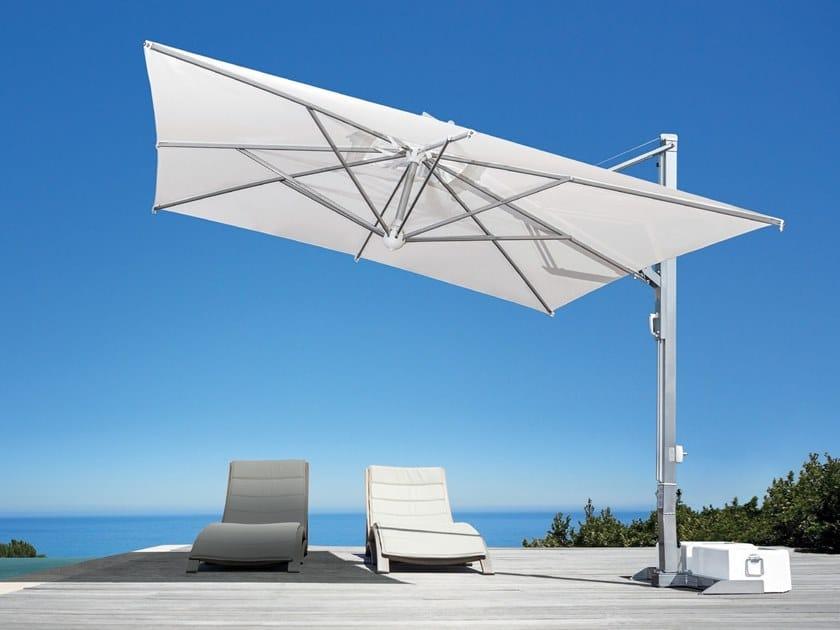 Adjustable square offset Garden umbrella GALILEO   Garden umbrella by Scolaro Parasol