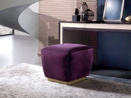 Square fabric pouf GALILEO   Pouf by Carpanelli