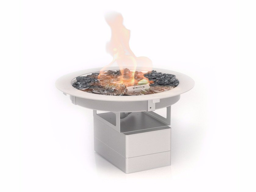 Gas outdoor built-in fireplace GALIO FIRE PIT INSERT by Planika