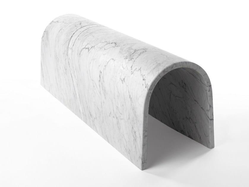Carrara marble bench GALLERIA by SALVATORI