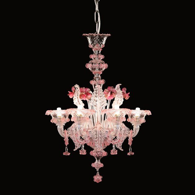 Classic Style Handmade Glass Chandelier Galliano Murano By Multiforme