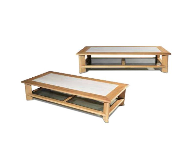 Low iroko garden side table GALLOWAY | Coffee table by Visionnaire
