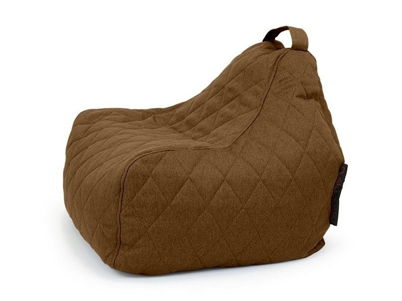 Fabric bean bag with removable cover GAME QUILTED NORDIC by Pusku pusku
