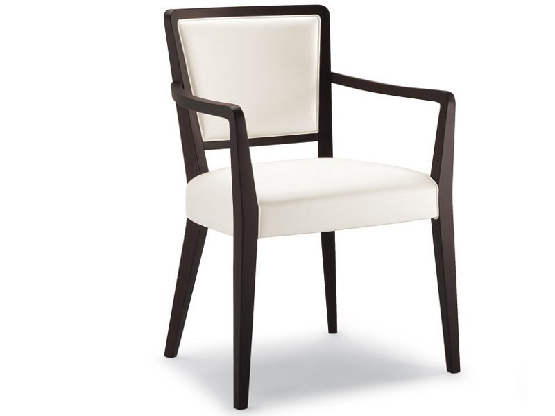 Contemporary style upholstered fabric chair with armrests GAMMA | Chair with armrests by Cizeta L'Abbate