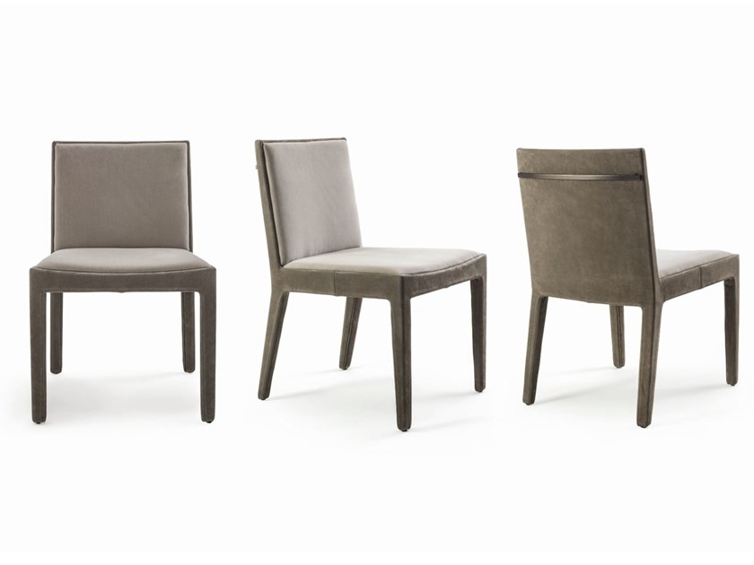 Contemporary style upholstered leather chair GAMMA by Longhi