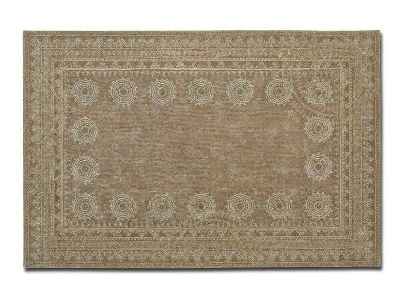 Handmade rectangular custom linen rug GANESHA by OT Oliver Treutlein