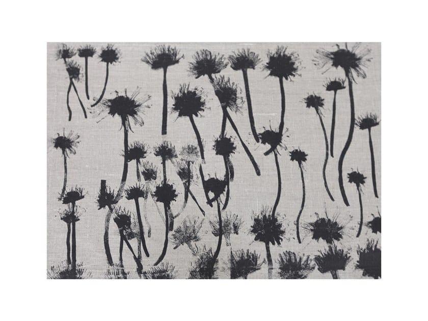 Rectangular linen placemat GANSEBLUMCHEN by Birgit Morgenstern Studios