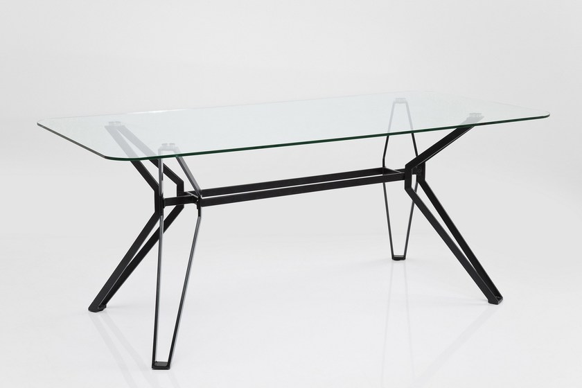 Rectangular Glass And Steel Table GARBO By KARE DESIGN