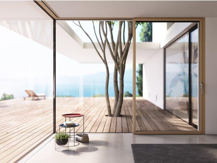 Aluminium and wood casement window GARDA by Essepi