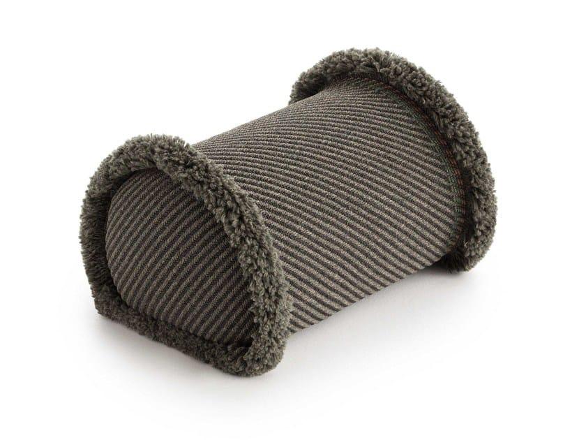 Striped roll outdoor polypropylene cushion GARDEN LAYERS GREEN | Roll cushion by GAN
