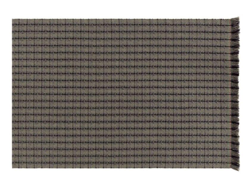Rectangular polypropylene outdoor rugs with geometric shapes GARDEN LAYERS GREEN | Rectangular rug by GAN