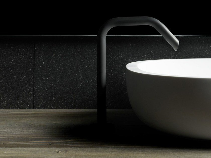 Brushed-finish deck-mounted sink spout GARDEN | Spout by Boffi