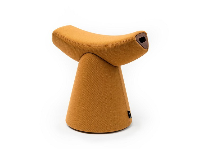Low fabric stool GARDIAN by La Manufacture