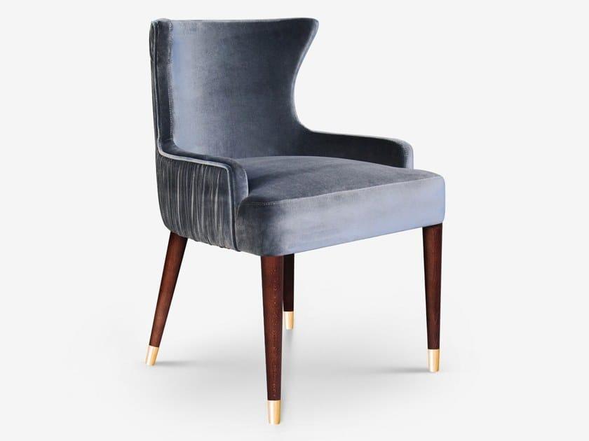 Upholstered velvet chair with armrests GARDNER by Ottiu