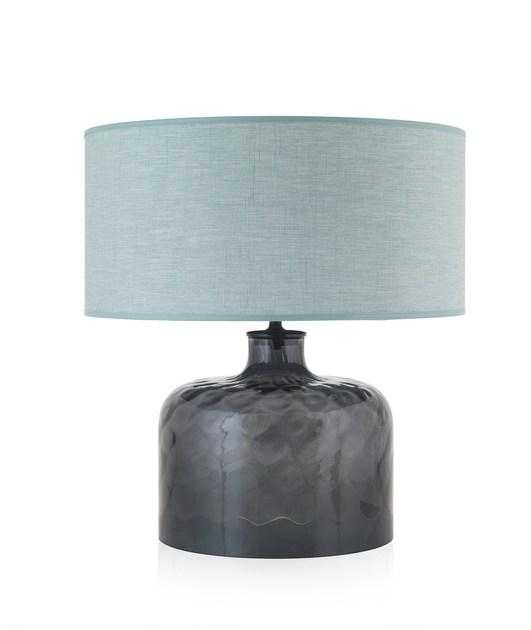 Contemporary style glass table lamp GARON BL by ENVY