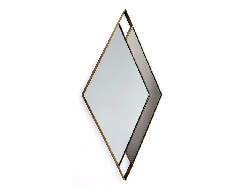 Wall-mounted framed mirror GARY | Wall-mounted mirror by MARIONI