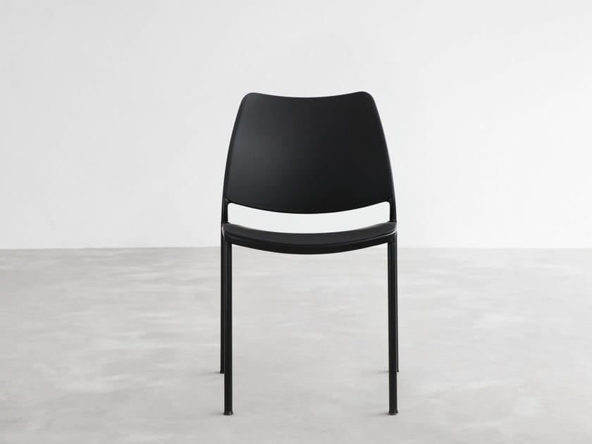 Stackable polypropylene chair GAS | Polypropylene chair by STUA