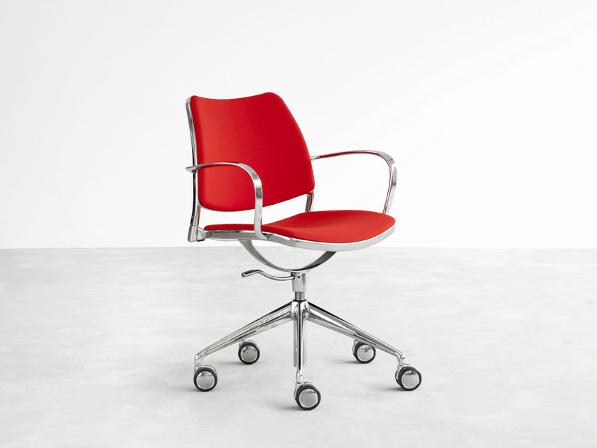 Fabric task chair with 5-Spoke base with casters GAS | Fabric task chair by STUA