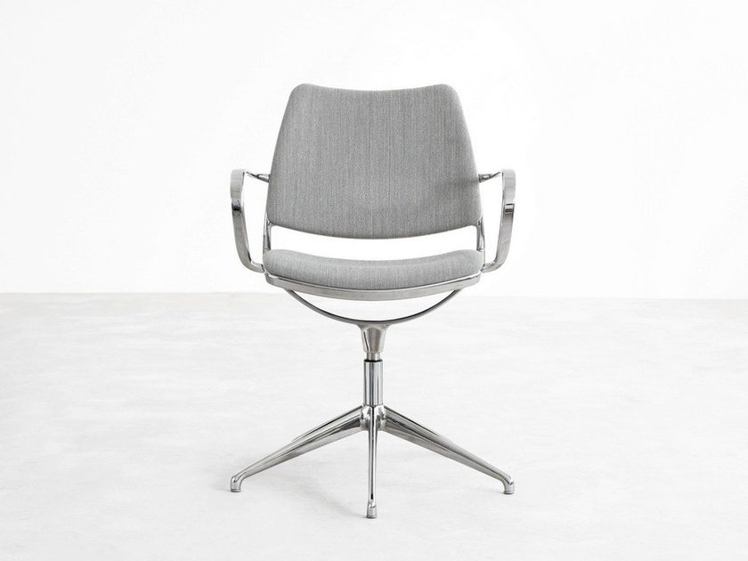Fabric task chair with 5-Spoke base with armrests GAS | Swivel task chair by STUA