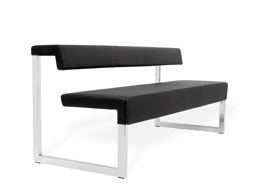 Upholstered bench with back GATE | Bench seating by KFF